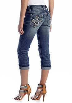 Miss Me Embellished Fleur De Lis Cross Pocket Jean