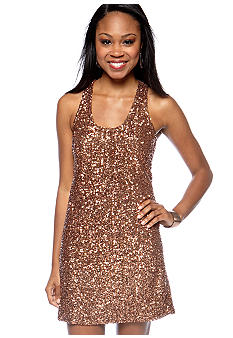 MM COUTURE by Miss Me Racer Back Sequin Tank Dress