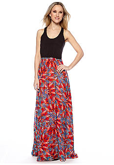 MM COUTURE by Miss Me Printed Skirt Maxi Dress