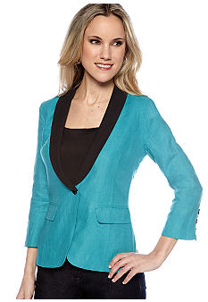 MM COUTURE by Miss Me Linen Tuxedo Jacket