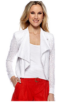MM COUTURE by Miss Me Eyelet Cropped Jacket