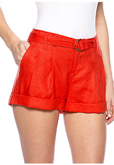 MM COUTURE by Miss Me Linen Belted Short