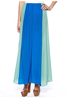 MM COUTURE by Miss Me Color Block Maxi Skirt