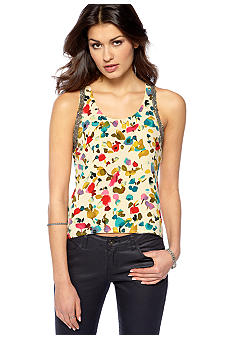 MM COUTURE by Miss Me Printed Hi Lo Sleeveless Blouse