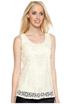 MM COUTURE by Miss Me Crochet Beaded Tank