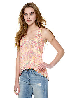 MM COUTURE by Miss Me Hi-Lo Printed Tank