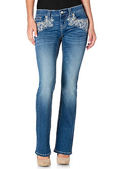 Miss Me Mid-Rise Slim Bootcut Jeans
