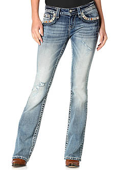 Miss Me Embellished Flap Pocket Bootcut Jeans