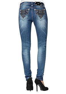 Miss Me Mid Rise Embroidered Skinny Jean