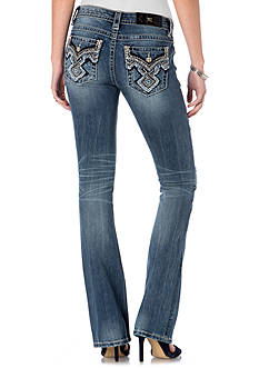 Miss Me Embellished Flap Pocket Boot Jeans