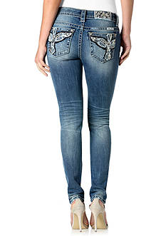 Miss Me Embellished Back Pocket Skinny Jeans
