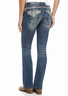 Miss Me Embroidered Pocket Bootcut Jeans