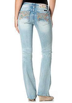 Miss Me Color Embroidered Pocket Bootcut Jeans