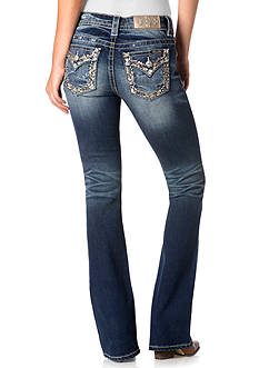 Miss Me Embroidered Trim Bootcut Jeans