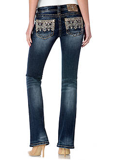 Miss Me Tribal Embroidered Bootcut Jeans