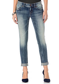 Miss Me Faded Cuff Skinny Ankle Jeans