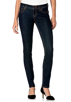 Miss Me Fierce Blue Mid-Rise Skinny Jeans