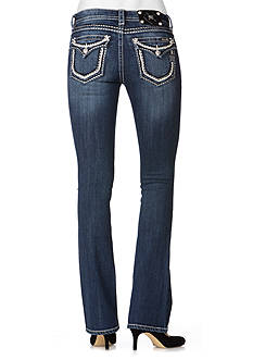 Miss Me Mid Rise Clean Flap Pocket Boot Cut Jean