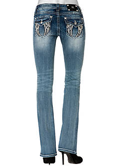 Miss Me Mid Rise Wing Flap Pocket Boot Cut Jean