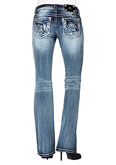 Miss Me Abstract Relaxed Boot Cut Jean