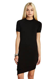 BCBGeneration Short Sleeve Asymmetrical Dress