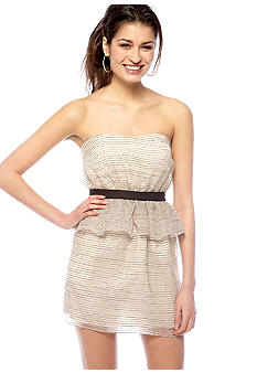 BCBGeneration Strapless Peplum Dress