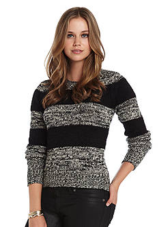 BCBGeneration Mixed Media Marled Crew Neckline Sweater