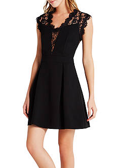 BCBGeneration Lace Back Dress