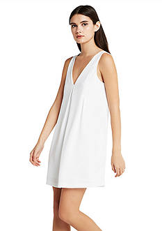 BCBGeneration V-Neck Dress With Neck Band