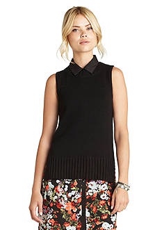 BCBGeneration High-Low Sleeveless Sweater Top