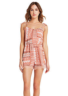 BCBGeneration Lace Trim Romper