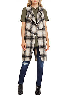 BCBGeneration Plaid Vest