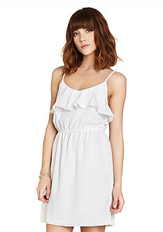BCBGeneration Ruffle Neck Dress