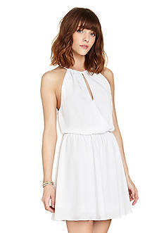 BCBGeneration Halter Neck Keyhole Dress