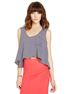 BCBGeneration Pocket Front Crop Top