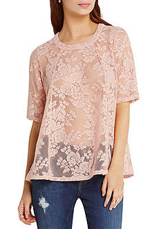 BCBGeneration Lace Open Back Top