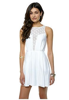 BCBGeneration Deep Front Lace Contrast Dress
