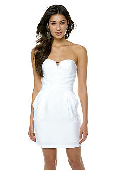 BCBGeneration Cutout Bustier Strapless Dress