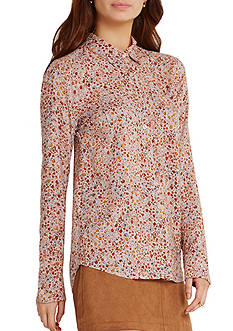 BCBGeneration Printed Woven Top
