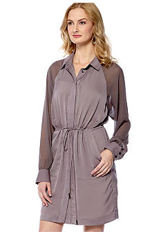 BCBGeneration Button Front Shirt Dress