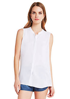 BCBGeneration Draped Back Button Down Shirt