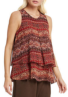 BCBGeneration Tiered Pleated Tank