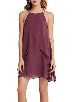 BCBGeneration Ruffle Halter Dress