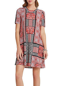 BCBGeneration Printed A-Line Dress