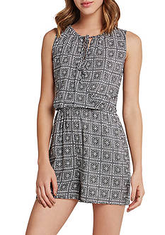 BCBGeneration Tie Neck Romper