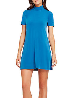 BCBGeneration Mock Neck Swing Dress