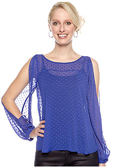 BCBGeneration Split Sleeve Blouse