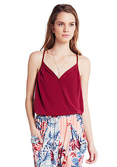 BCBGeneration Surplice Strappy Top