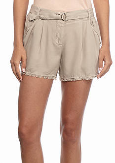 Splendid Crosshatch Fringe Trim Short