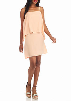Splendid Solid Popover A-Line Dress